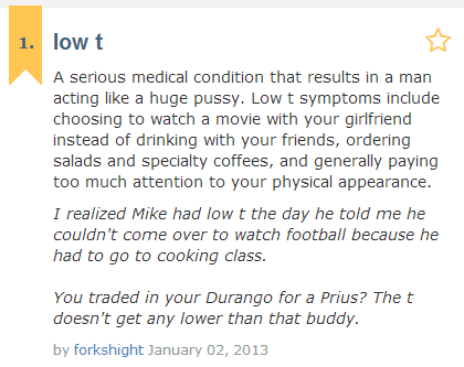 urban dictionary low T